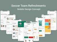 Soccer Team Refreshments  Mobile Design Concept