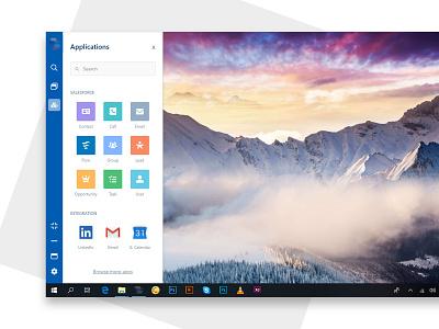 Progressive Salesforce application application widget windows web app progressive salesforce saas dashboard webapp