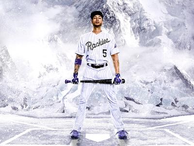 Colorado Rockies Snowmass White Home Uniform