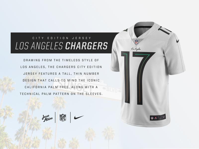 8ca11b77036 NFL City Edition jersey - LA Chargers by Jesse Alkire | Dribbble ...