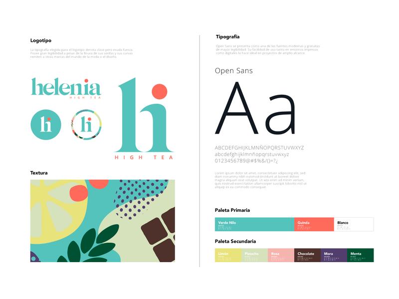 Helenia beverage tea texture vector design corporate guidelines logo branding argentina