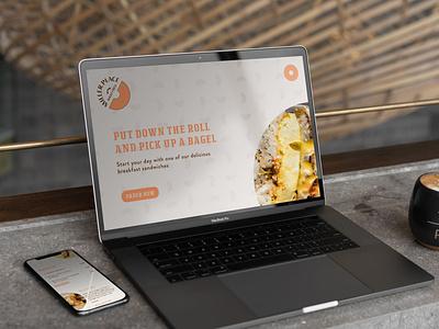 Miller Place Bagel & Deli (Student Project) photography app design mockup typogaphy web design illustrator photoshop ux  ui