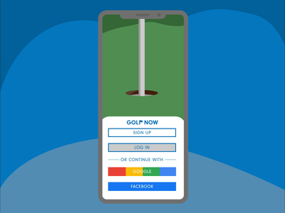 Golf Now Landing Page Re Design illustration logo app design motiongraphics design ui illustrator