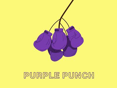 Purple Punch vector logo branding design illustration illustrator