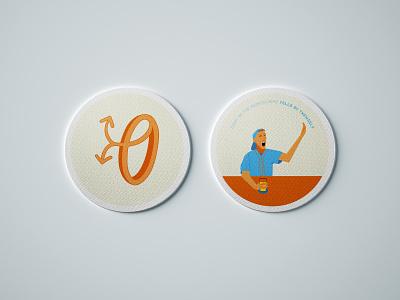 Over Under Coasters logo vector branding design illustrator illustration