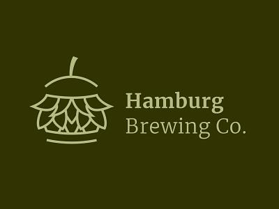 Hamburg Brewery Concept Logo vector logo branding design illustration