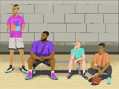 These Dudes Got Next fashion sneakers tshirt hoops basketball design illustration illustrator
