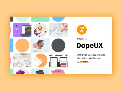 Welcome to Dope UX website typography ux branding logo design illustration