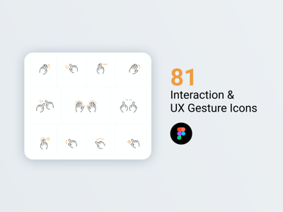 Interaction and UX Gesture Icons freebie for Figma download figma icons gestures app dopeux logo ux