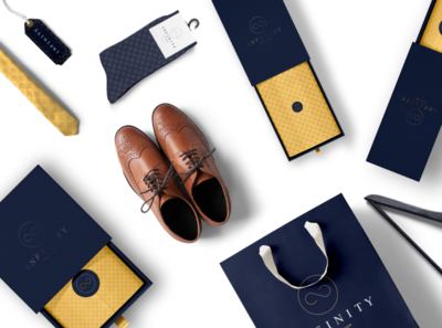 infinity-Branding tailor brand clothing luxury fashion packaging design bag design logodesign business card branding business branding design brand identity brand design