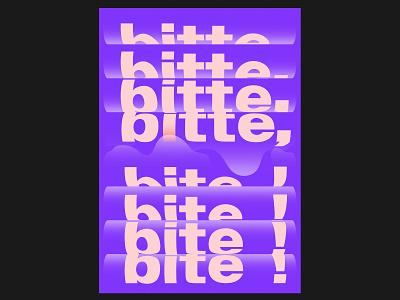 bitte, bite! poster a day poster art purple graphic design poster design poster