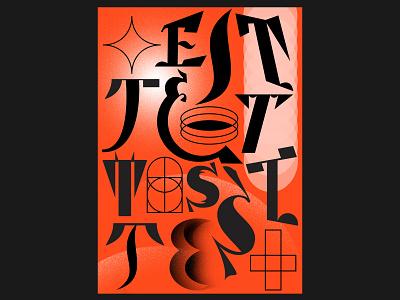 Test poster art communication design typography poster poster a day graphic design poster design typogaphy poster