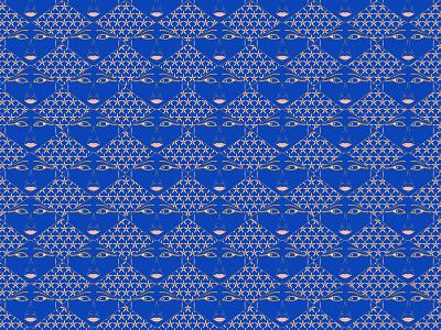 Hathor Goddess pattern pattern design communication design illustration graphic design blue pattern ancient egypt