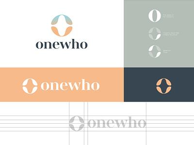 Onewho Logoscape typography branding design gradient wellness logo logo