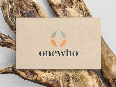 Onewho Business Card business card wellness logo logo gradient design branding