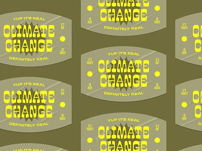 Climate Change Sticker sun. change climate sticker patch typography branding logo