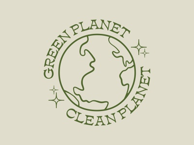 Eco-friendly T-Shirt Design | Green Planet Clean Planet global warming ethical green clean illustration organic planet climate change sustainable eco-friendly t-shirt badge logo