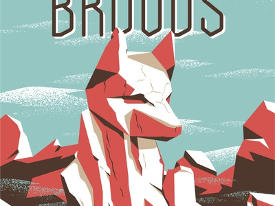 Broods Gig Poster
