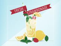 Fresh Strawbonade