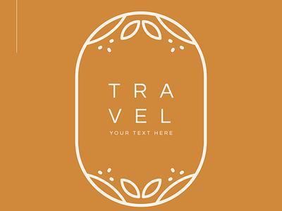Travel Flower Logos logo design logo logos unique logo logosimple logo monogram flower