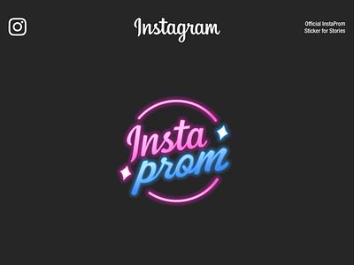 Instagram Prom   Design Stickers branding instagram prom minimalism app interface web illustration design ux ui