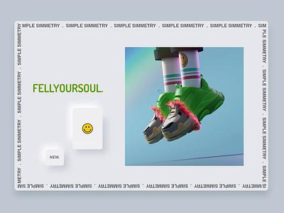 🔥 .FEELYOURSOUL. 🔥 shoes neumorphism iridiscent interaction houdini octane c4d blender3d balanciaga animation minimalism motion character app interface web illustration design ux ui