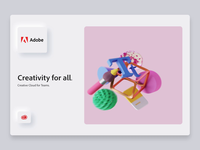 Adobe Creativity  Illustrations adobe photoshop cc adobe illustrator abstract objects octane neumorphism motion cinema4d art creativity blender creative cloud adobe app interface web illustration design ux ui