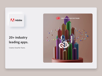 Adobe CC - Industry-leading apps adobe xd cinema4d neumorphism product team cloud creative apps adobe branding motion animation app interface web illustration design ux ui