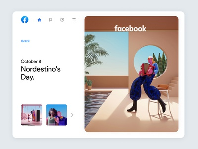 Facebook Always On | 05 trend inspiration culture brazil character design 3dcharacter facebook branding character app interface web illustration design ux ui