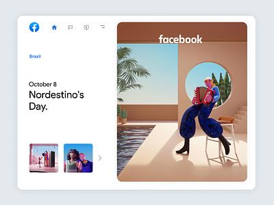 Facebook Always On | 05 trend inspiration culture brazil character design 3dcharacter facebook branding character app interface web illustration design ux ui