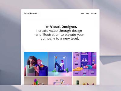 Leo Natsume Official Website motion design illustrator leo natsume minimalism animation character app interface web illustration design ux ui