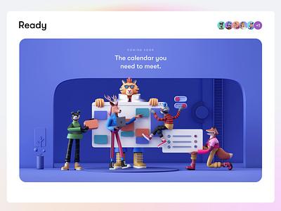 Ready, Brand Characters | III inspiration trend 2022 3d illustration web design animation calendar work team tiger character design 3d branding logo app interface web illustration design ux ui