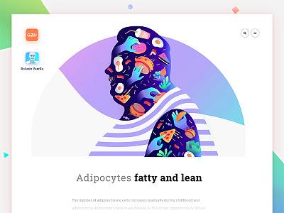 Fatty and lean sketch art gradient flat web typography interface illustration ux ui design app