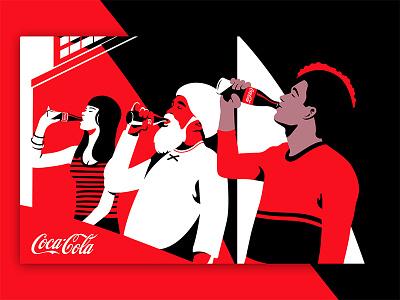 Coke minimalism interface brand editorial web character illustration ux ui design coca cola coke