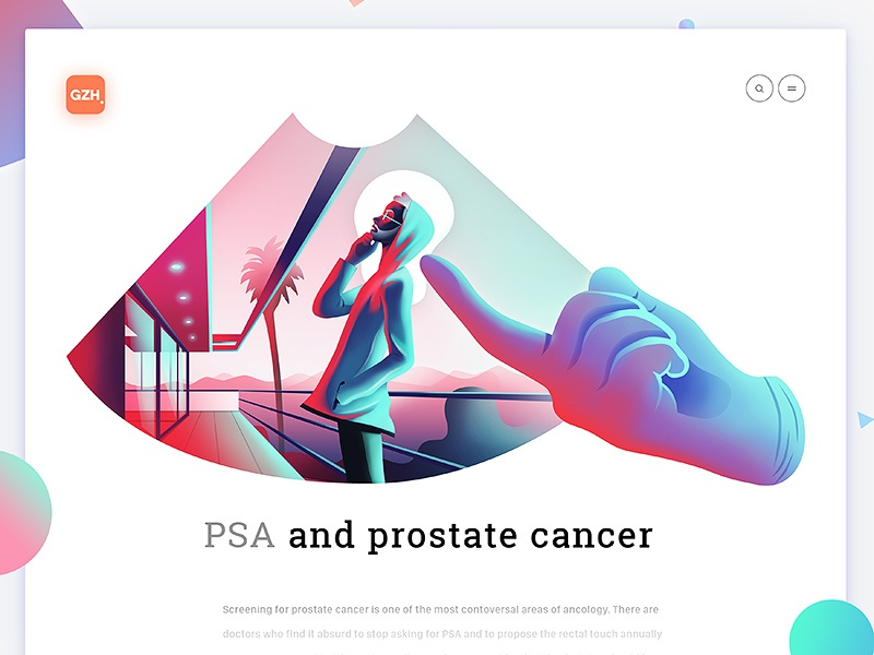 PSA and prostate cancer by Leo Natsume for Norde in GZH illustrations