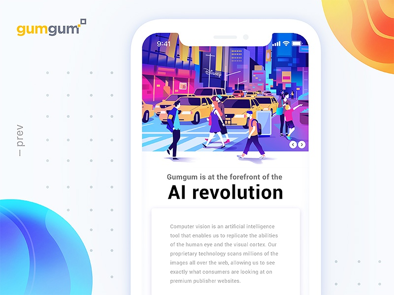 GumGum - artificial intelligence by Leo Natsume for Norde in GZH illustrations