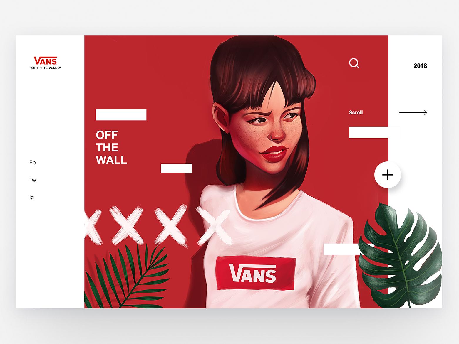 Vans - Concept Illustration Design skateboard vans motion web creative ux character interface illustration animation design ui