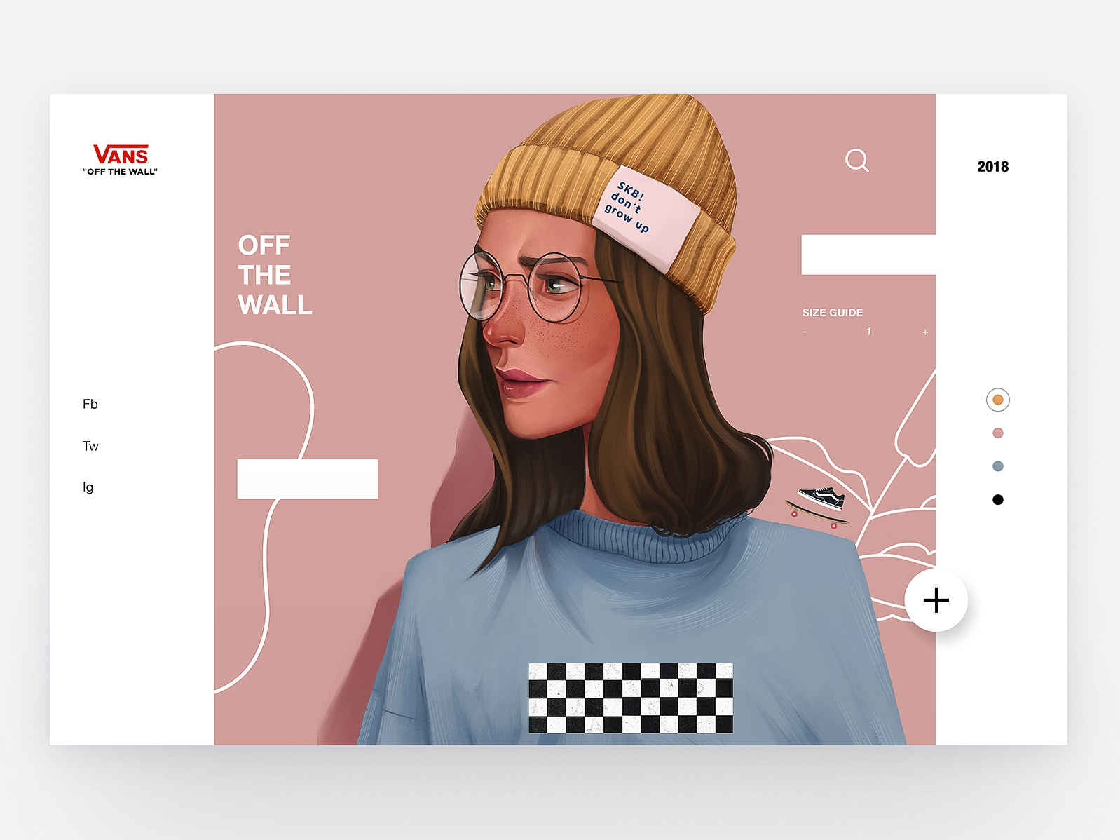 Vans - Concept Illustration Design II character app concept skate vans web interface animation illustration ux design ui