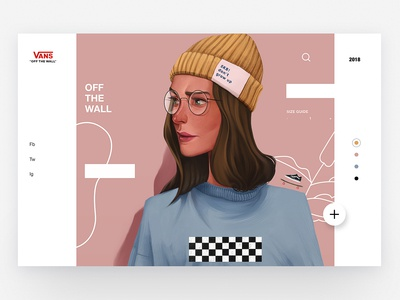 Vans - Concept Illustration Design II character app concept skate vans web interface animation illustration ux design ui