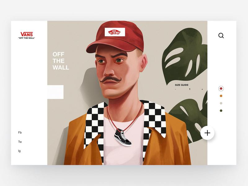 Vans - Concept Illustration Design VI app travel fashion concept art concept vans creative character ux ui interface web design illustration