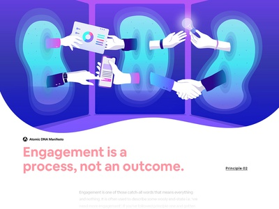 Atomic DNA Manifesto - Principle 02 editorial minimalism creative gradient character interface web illustration design ux ui