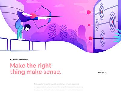 Atomic DNA Manifesto - Principle 04 futurism vector minimalism gradient app interface web illustration design ux ui