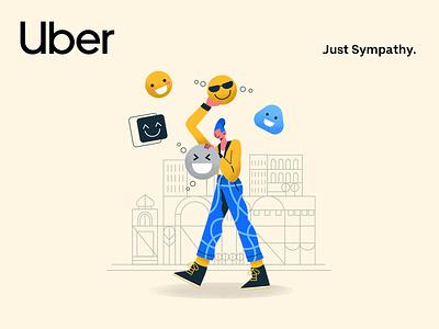 Uber – Users Review 2018 | 02 artdirection ai city uber design uber minimalism character interface web illustration design ux ui