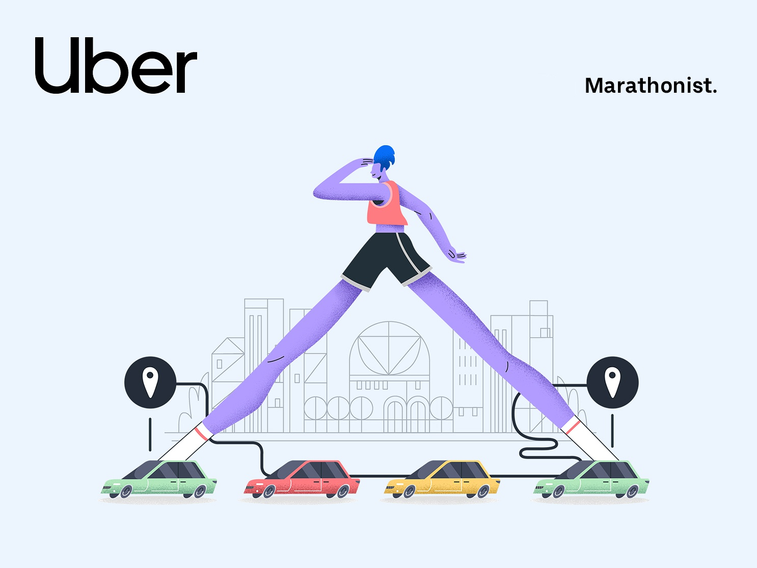 Uber – Users Review 2018 | 06 travel car uberdesign uber character running minimalism interface web illustration design ux ui