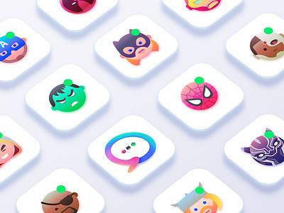 ChatHeroes web experience dc marvel superheroes minimalism creative character app interface web illustration design ux ui