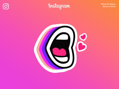Instagram Sticker Anti-Bullying Official Design