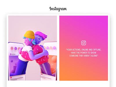 Instagram Poster Official #2 | Create Don't Hate illustration instagram interface app web page ui uxdesign ui illustration hug minimalism illustrator stickers emojis creative blender3d cinema4d 3d