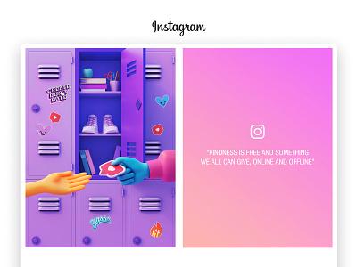 Instagram Poster Official #3   Create Don't Hate visual creative instagram 3d web page ui illustration illustrator minimalism emoji stickers blender3d cinema4d character app interface web illustration design ux ui