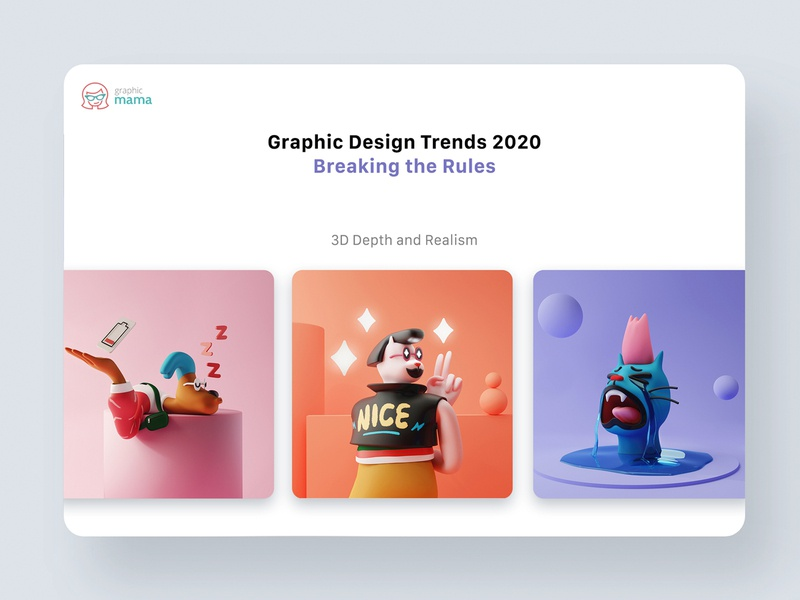 3d Design Trend 2020 creative 2020 trend character blender3d cinema4d 3d app interface web illustration design ux ui