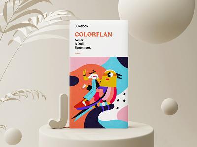 Colorplan | Package Design ux inspiration branding vector blender 3d minimalism illustration character packaging design design packaging package ui
